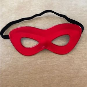 Adult Shiny Red Superhero Mask